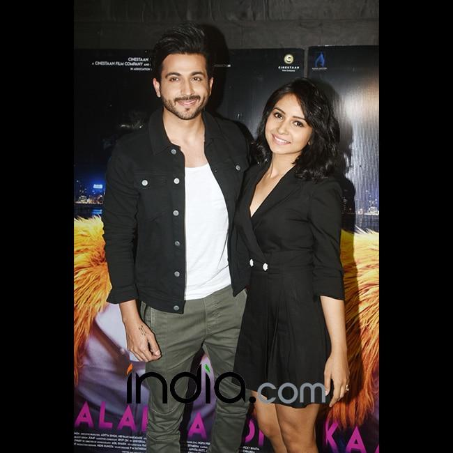 Dheeraj Dhoopar with wife Vinny at special screening of Kaalakaandi
