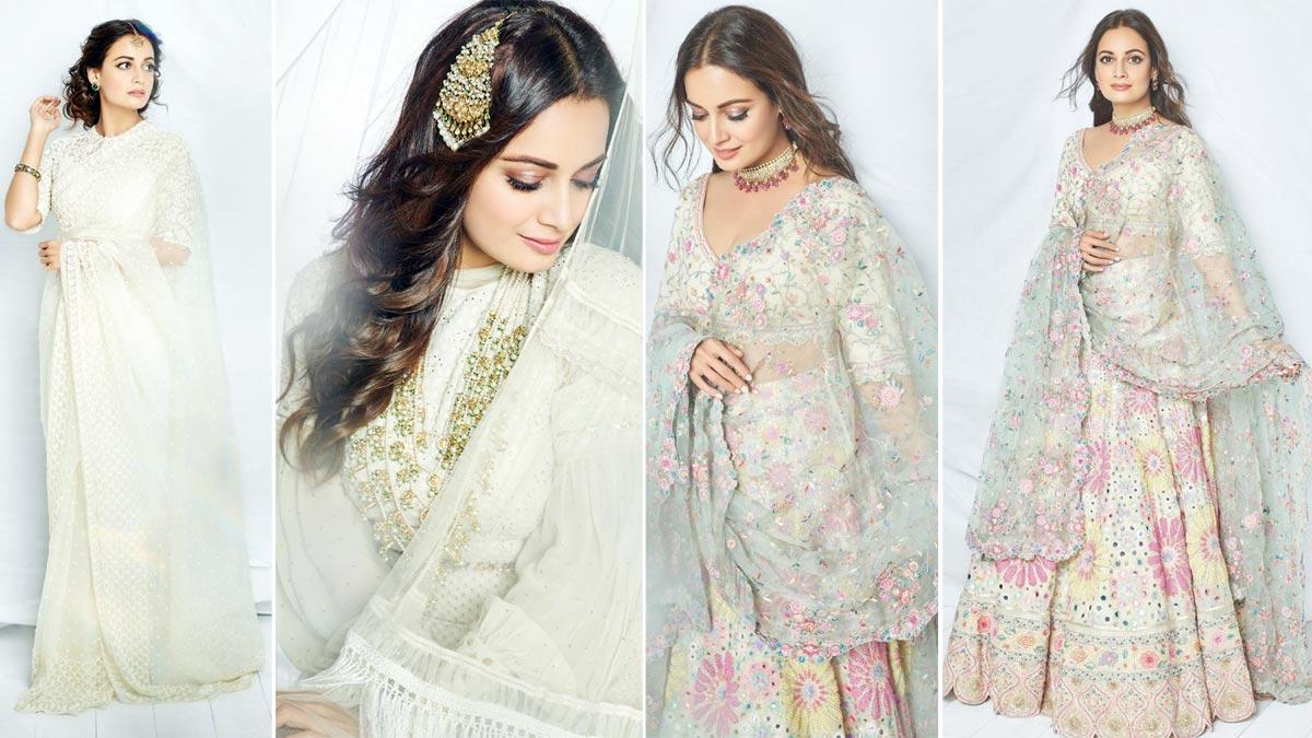 Dia Mirza looks breathtakingly gorgeous in her bridal lehenga