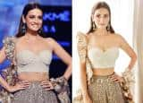 Dia Mirza Looks Breathtaking in Ivory Lehenga at Lakme Fashion Week