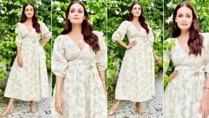 Dia Mirza Looks Class Apart in Wrap Dress Worth Rs 10,200; Says 'Mamma At Work'
