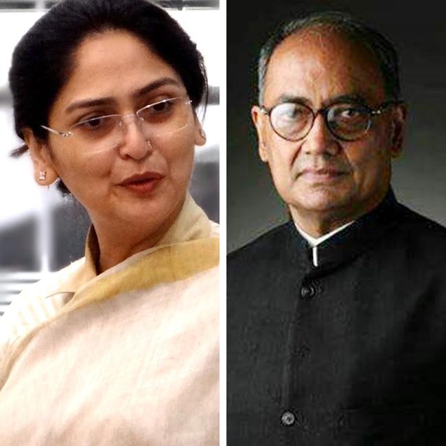 Digvijay Singh and Amrita Rai