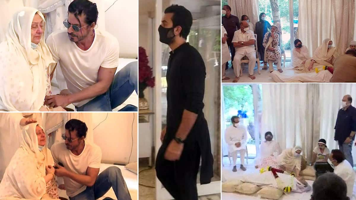 Dilip Kumar funeral  Inside pictures from his house as Shah Rukh Khan comforts Saira Banu