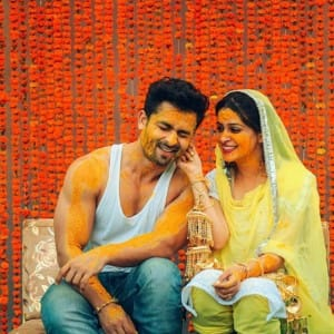 PICS: Simar aka Dipika Kakar and Shoaib Ibrahim's haldi ceremony marks beginning of their wedding celebrations
