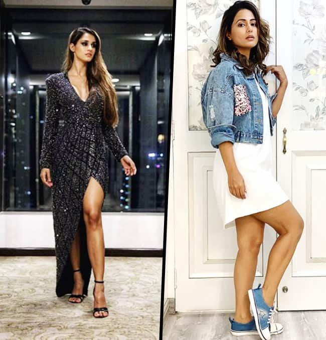 Disha Looks Stunning in Casual Outfit Whereas Hina is Pure Elegance in Half Blazer Dress