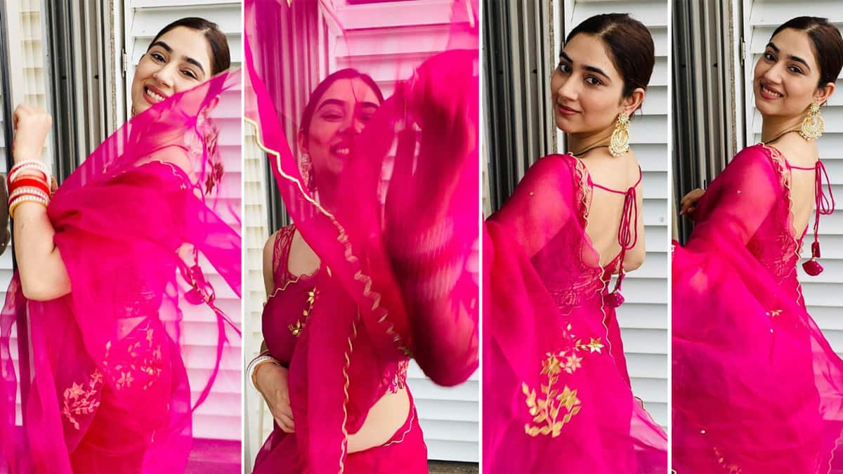 Disha Parmar loves wearing sarees and this amazing photos is a big proof