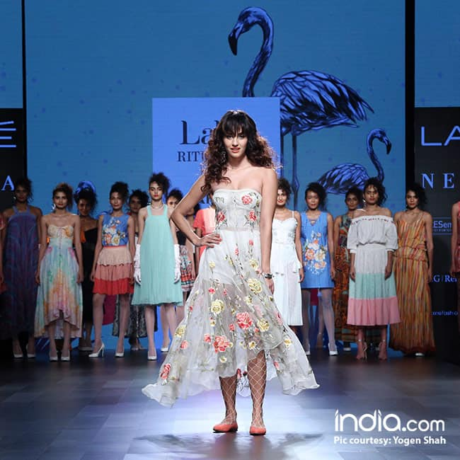 Disha Patani during day 1 of Lakme Fashion Week 2017