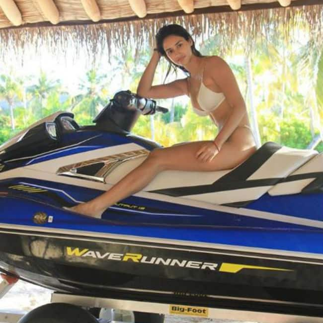 Disha Patani looks hot and sexy in white bikini