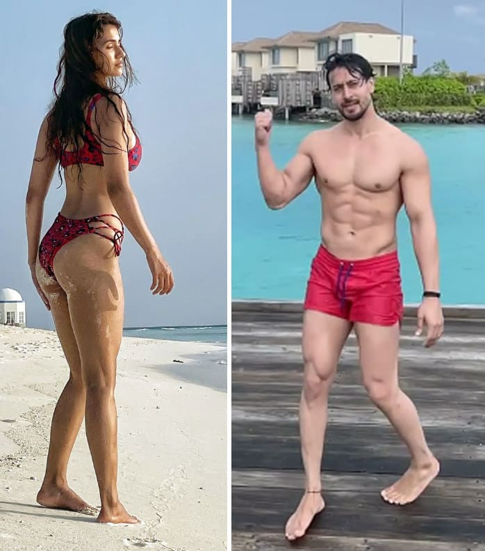 Disha Patani raises the temperature in a red bikini
