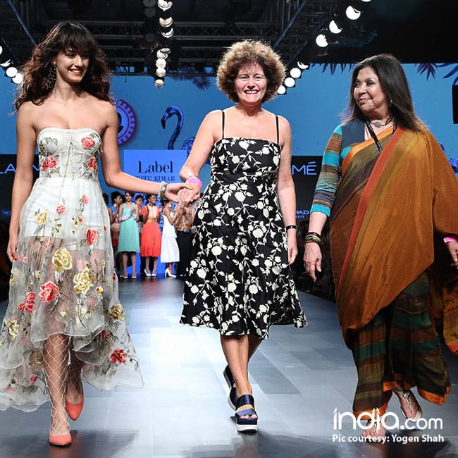 Disha Patani walks the ramp for designer Ritu Kumar