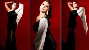 Bigg Boss OTT Winner Divya Agarwal Looks Glamorous in One-Shoulder Black Gown With Thigh-High Slit