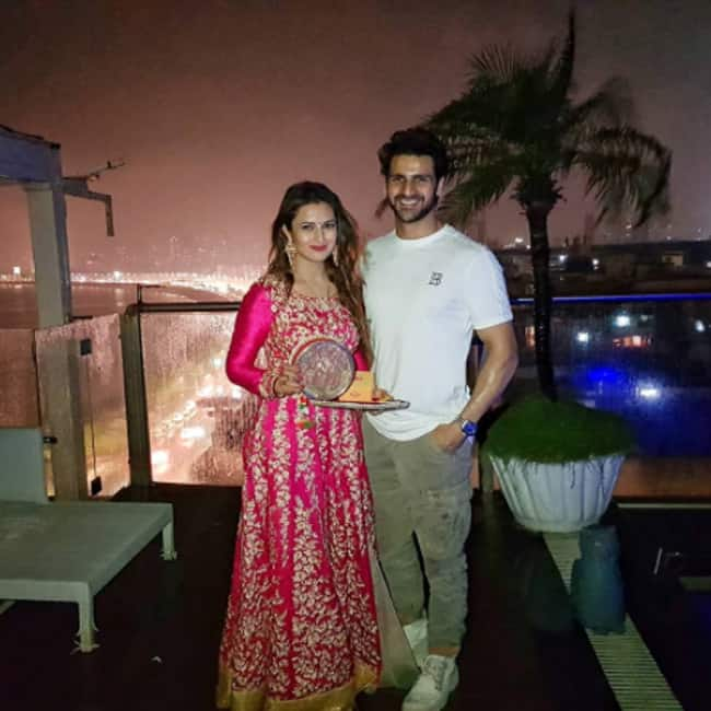 Divyanka Tripathi Dahiya with husband Vivek Dahiya on Karva Chauth
