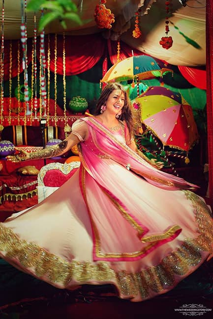 Divyanka Tripathi during her mehendi ceremony