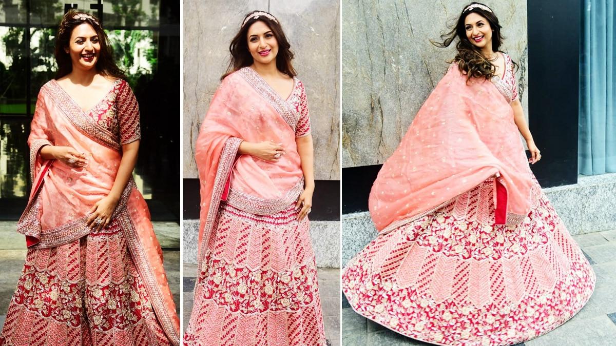 Divyanka Tripathi in Pink Lehenga Gives The Most Stunning Bridesmaid Look