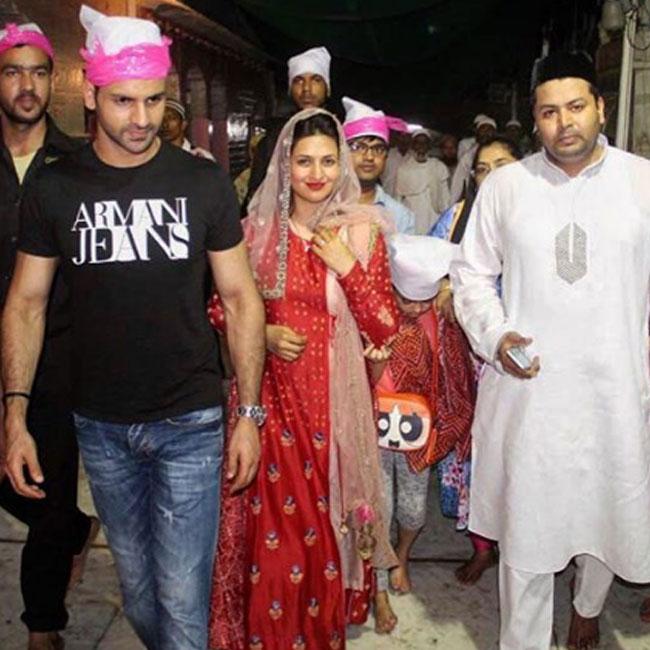 Divyanka Tripathi with husband Vivek Dahiya at Ajmer Sharif dargah