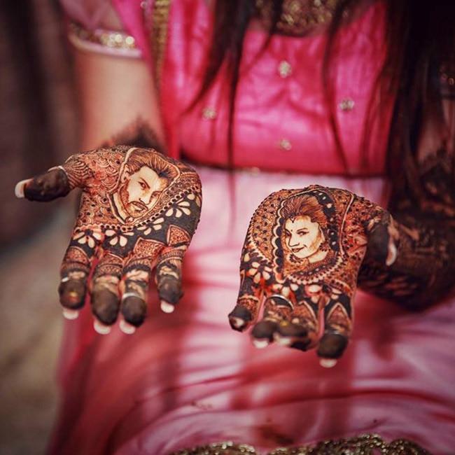 Divyanka Tripathi   s hand painted with henna