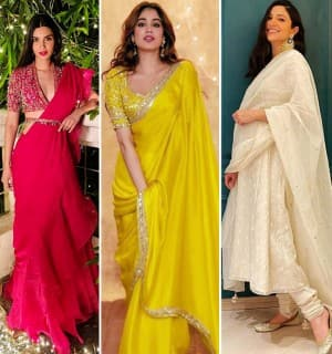 Diwali 2020 Best Dressed Celebs of Bollywood: Janhvi Kapoor, Anushka Sharma And Others Look Fab