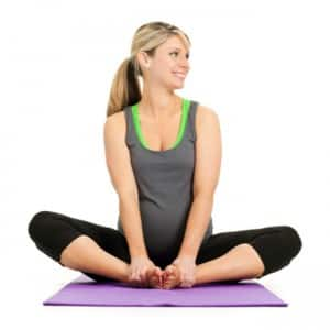 do baddhakonasana or butterfly pose during pregnancy  try