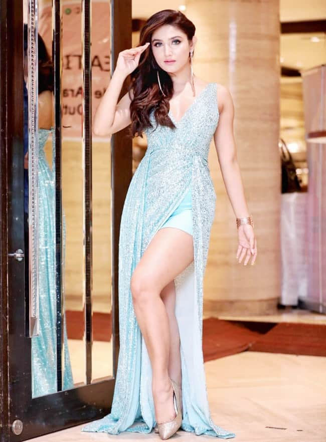Donal Bisht is A Head-Turner in a Shimmery Blue Gown, See Viral Photos