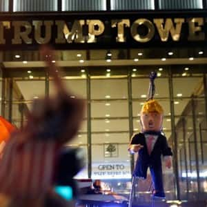 After electing Donald Trump United States' President, citizens protest at Trump Tower and across the nation!