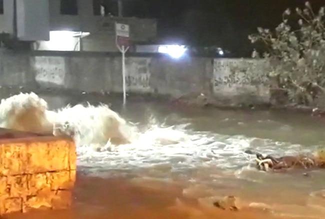 Drinking water pipe bursted in Telangana