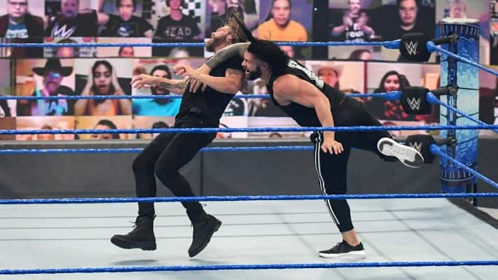 Edge attacked Roman Reigns and Jimmy Uso