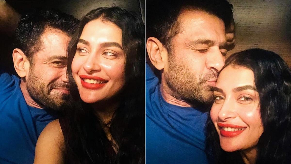 Eijaz Khan Kisses Pavitra Punia in a Romantic Gesture