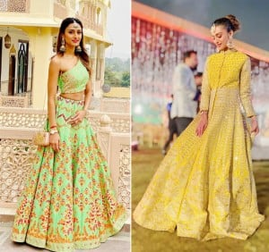 Kasautii Zindagi Kay Actor Erica Fernandes Yellow & Green Lehenga is Perfect For Your Friend's Wedding, See Pictures