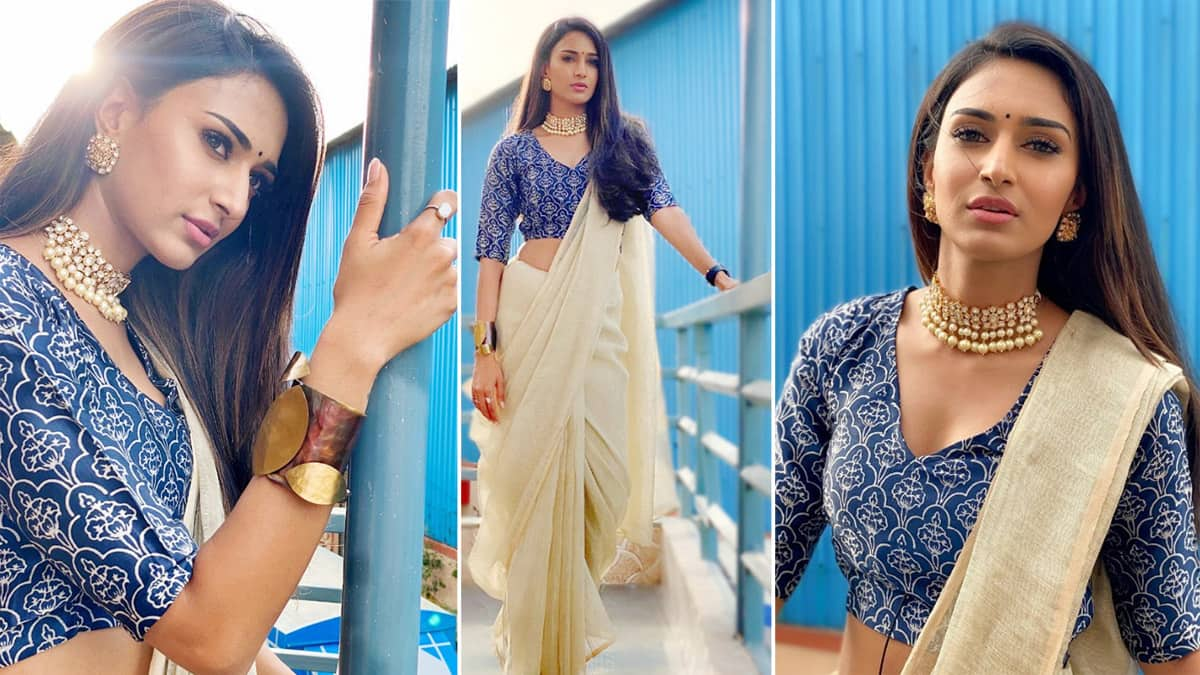 Erica Fernandes  Sets Saree Draping Trend