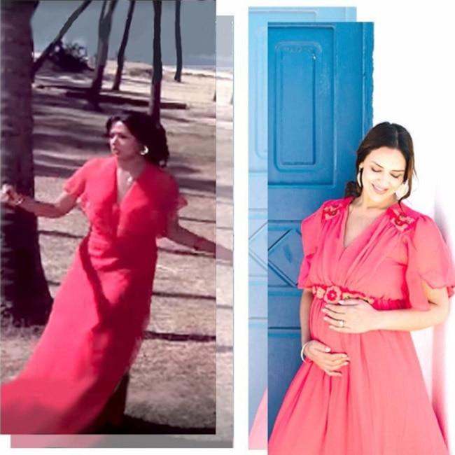 Esha Deol imitating mom Hema Malini   s style from the 80s