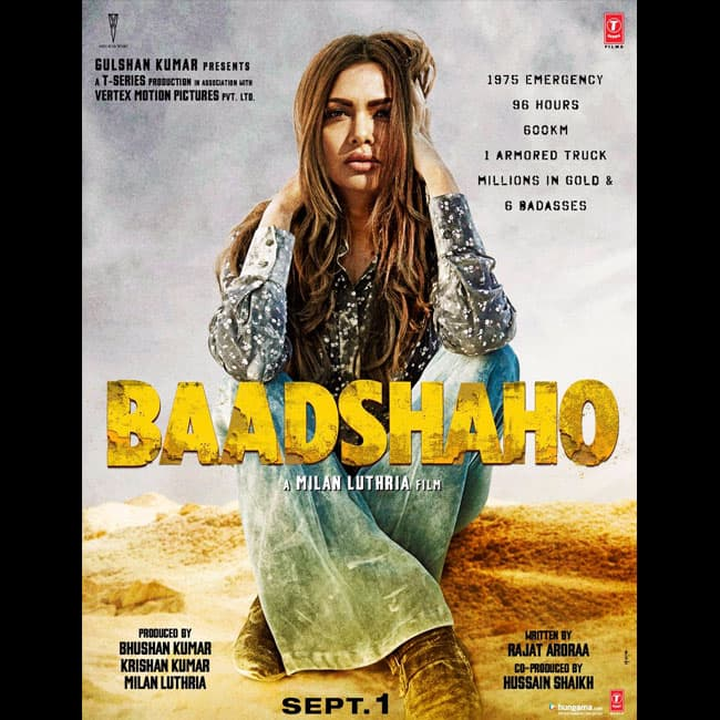 Esha Gupta as the fifth    badass    of the on the poster of Baadshaho