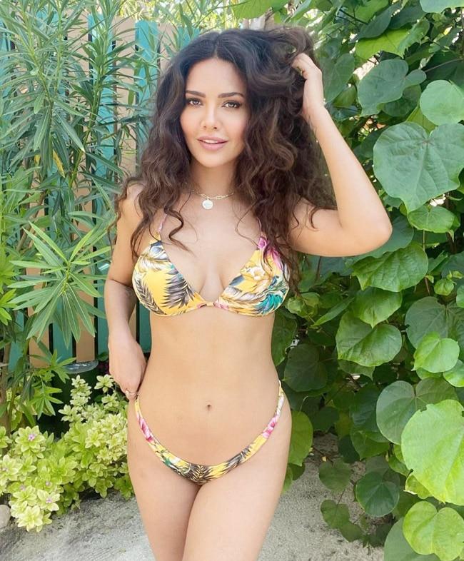 Esha Gupta Goes Sultry And Bold in Yellow Bikini Look