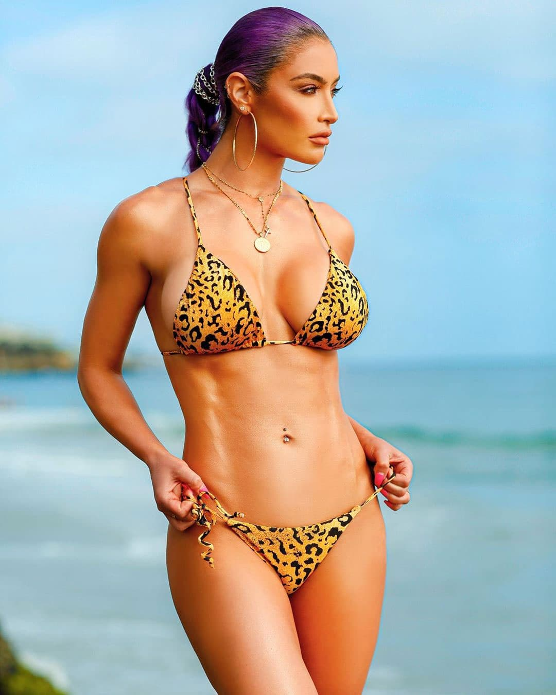Eva Marie in Animal Print Bikini