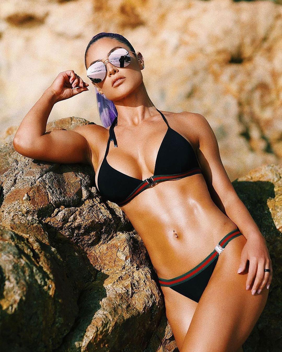 Eva Marie in Black Bikini