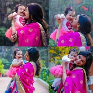 Ex Bigg Boss contestant Dimpy Ganguly rolls out complete photo shoot with daughter Reanna and husband Rohit Roy!