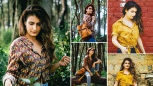 Fatima Sana Shaikh is Casual Chic in a Printed Shirt And Blue Distressed Denim As She Chills in Dharamshala