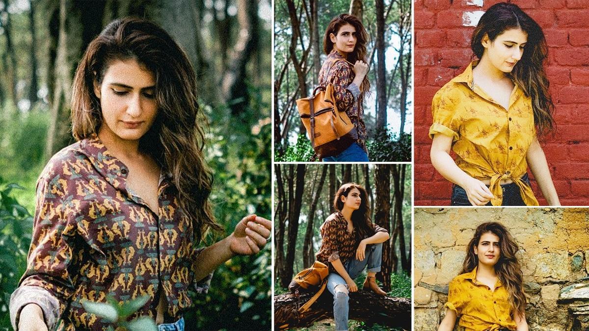 Fatima Sana Shaikh   s Printed Shirt And Jeans Makes Her a Summer Stunner