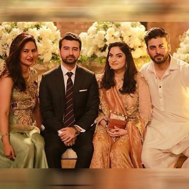 Fawad Khan at sister   s engagement