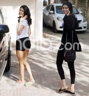 Janhvi Kapoor And Khushi Kapoor Spotted Post Gym Session