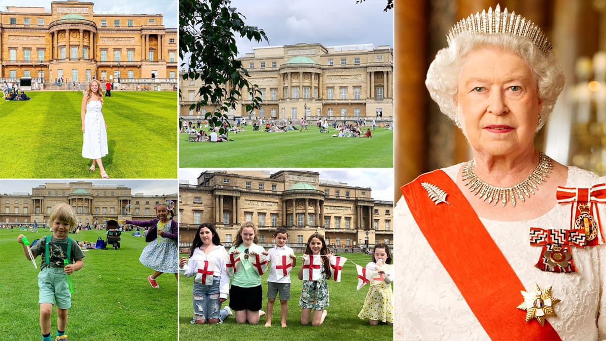 For the first time in history  the Queen   s Buckingham Palace gardens are open to visitors