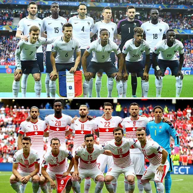 France vs Switzerland ended in a delightful draw in UEFA EURO 2016 Group A match