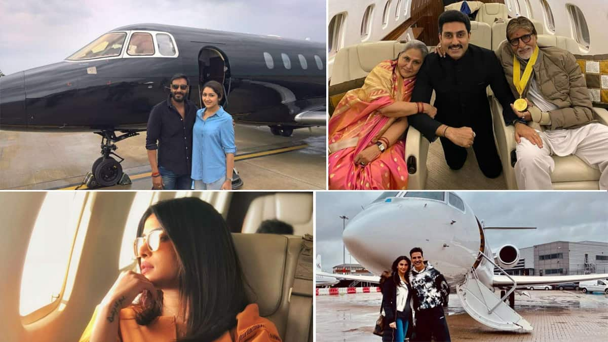 From Akshay Kumar To Shilpa Shetty  Inside Photos of Private Jets That Actors Own