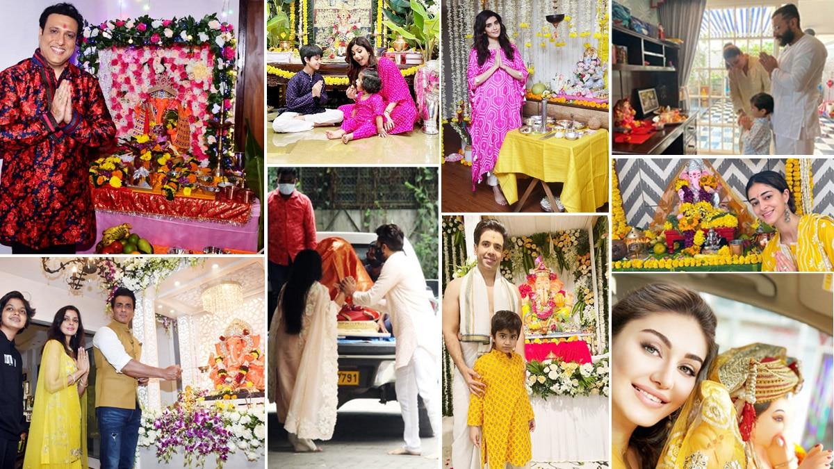 From Govinda to Ananya Pandey  List of Celebrities Who Brought Home Ganpati Bappa on Ganesh Chaturthi 2021