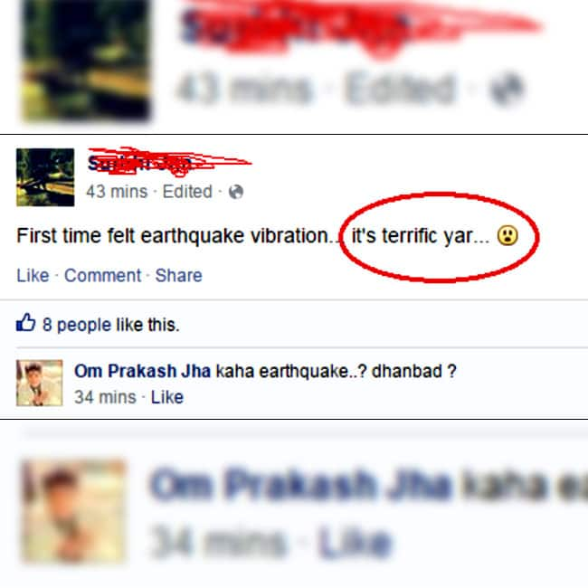Funny Facebook Status During Earthquake