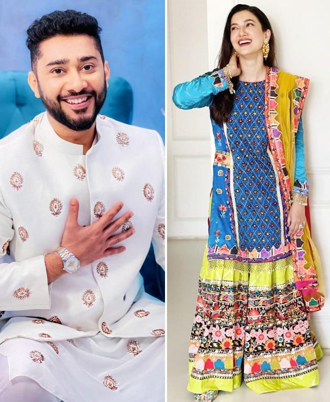Gauahar Khan and Zaid Darbar s elegant look for Eid