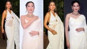 Gauahar Khan And Nia Sharma Sizzle in The The Same White Saree Worth Rs 66,000 - See Pics