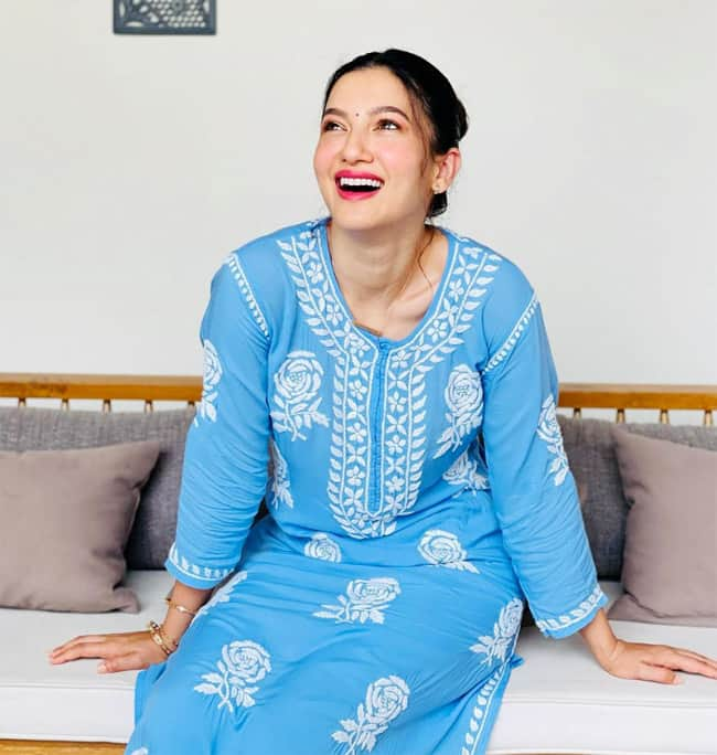 Gauahar Khan   s Blue Chikankari Suit is a Must For Every Wardrobe