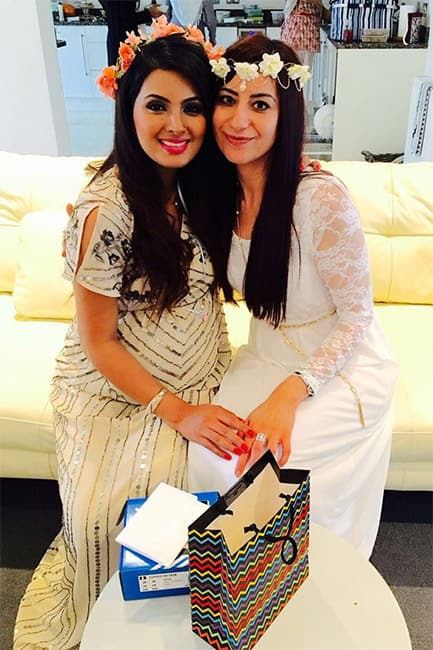 Geeta Basra clicked during her baby shower