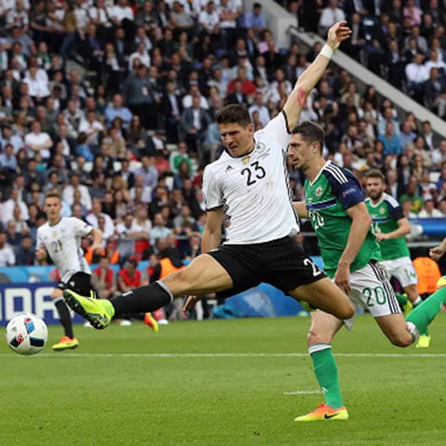 Germany   s Mario Gomez clicked  during UEFA EURO 2016 Group C match