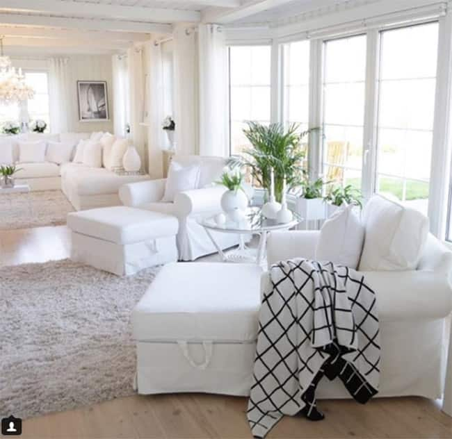 Get the whole home painted with white based colour