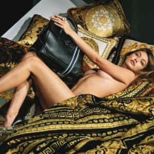 Hollywood star Gigi Hadid strips down in Versace's new campaign!